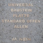 Klaus Schlosser + Jakob Timpe: UNIVERSALBAUSTEINPLATTE